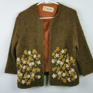 Vintage Cardigan Sweater Embroidered